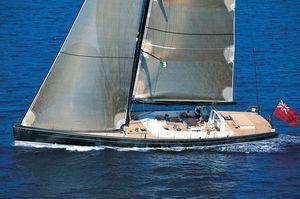 sailing-superyacht course-croisière / cockpit ouvert / en carbone / sloop
