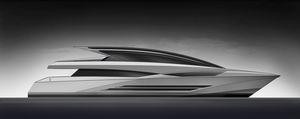 super-yacht rapide / hard-top / à déplacement / 5 cabines