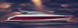 super-yacht de sport / hard-top / à déplacement / 4 cabines