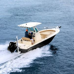 bay boat hors-bord / à console centrale / de pêche sportive / max. 10 personnes