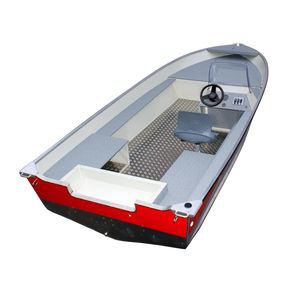 bay boat hors-bord / à console latérale / de pêche sportive / en aluminium