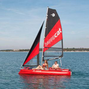 catamaran de sport gonflable / spinnaker asymétrique