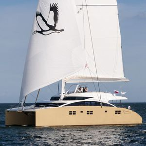 sailing-yacht catamaran / de croisière / cockpit ouvert / à fly