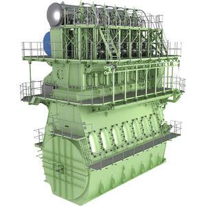 moteur lent pour navire / diesel / à gaz / bi-carburant