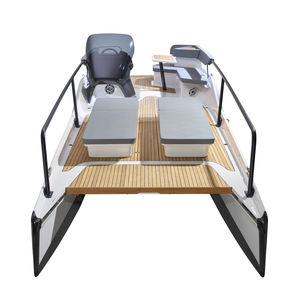 cabin-cruiser catamaran