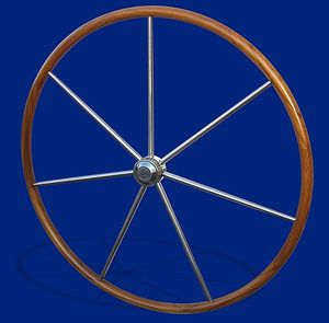 barre à roue pour voilier / en teck