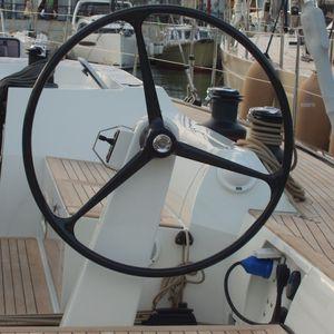 colonne de barre à roue pour voilier