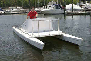 coque open catamaran / hors-bord / à console centrale / max. 8 personnes