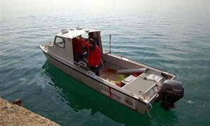 bateau professionnel bateau de recherche scientifique / hors-bord