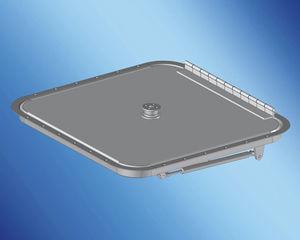 panneau de pont pour bateau / rectangulaire / ouvrant
