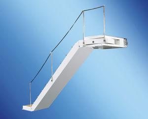 échelle pour bateau / latérale / d'embarquement / en teck