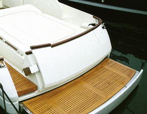 plateforme pour yacht / pour bateau / articulée / en teck