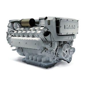 moteur diesel pour navire / turbo / injection directe / common-rail