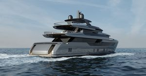 super-yacht de croisière / raised pilothouse / en aluminium / à déplacement