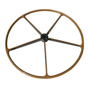 barre à roue pour voilier / en teck / traditionnelle
