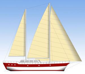 sailing-yacht de croisière / à cockpit fermé / ketch