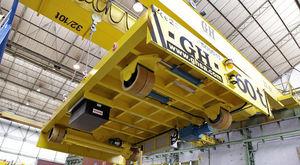 remorque de manutention / pour chantier naval / automotrice / électrique
