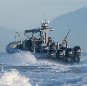 bateau professionnel bateau militaire / hors-bord / en aluminium / bateau pneumatique semi-rigide