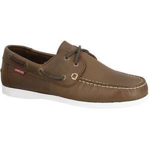 chaussures de pont / en cuir
