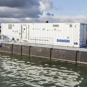 traitement des eaux de ballast / pour navire / pour chantier naval / en conteneur