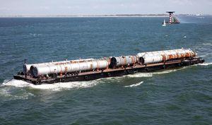 navire spécial ponton flottant de travail / polaire