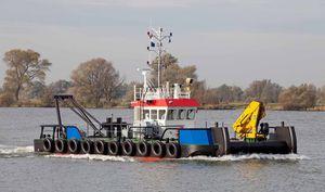 bateau professionnel bateau pousseur / in-bord