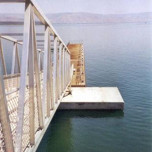 ponton flottant / d'amarrage / pour marina / en béton