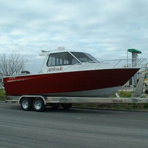 bateau de travail / in-bord hydrojet / diesel / en aluminium