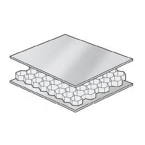 panneau sandwich pour cloison de navire / nid d'abeille / aluminium