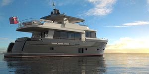 motor-yacht de croisière / explorer / traditionnel / à fly