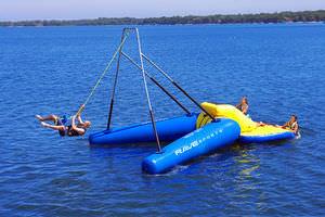 jeu aquatique catapulte