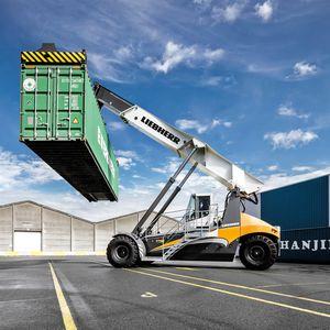 reach-stacker prise par dessus / pour conteneur