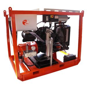 nettoyeur haute pression pour chantier naval / pour navire / monté sur châssis / moteur diesel
