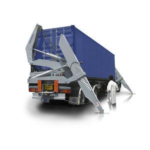 remorque porte-conteneur / pour terminal portuaire / chargement de côté / auto-chargeuse