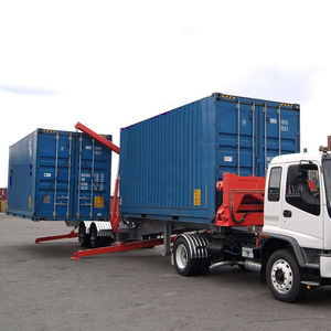 remorque porte-conteneur / pour terminal portuaire / auto-chargeuse / chargement de côté