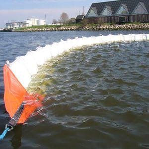 barrage antipollution / flottant / pour eau calme