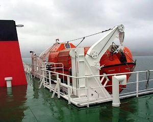 bossoir pour navire / de canot de sauvetage / à gravité