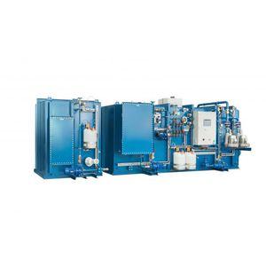 système de traitement d'eaux usées / pour navire / biologique / à membrane