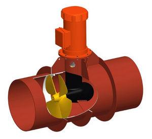 propulseur d'étrave / pour navire / électrique / à tunnel