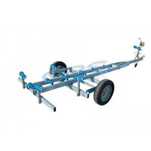 chariot de mise à l'eau / pour bateau à moteur / remorquable