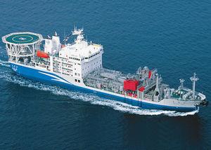 navire anti-pollution de récupération d'hydrocarbures