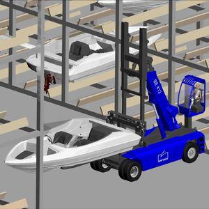 chariot élévateur pour bateau