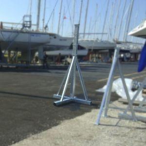 pieds de mise sur cale pour voiliers