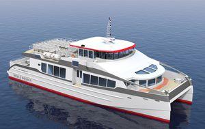 bateau professionnel bateau à passagers / catamaran / in-bord / hybride diesel-électrique