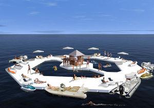 île flottante artificielle