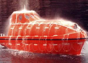 canot de sauvetage à chute libre / pour navire