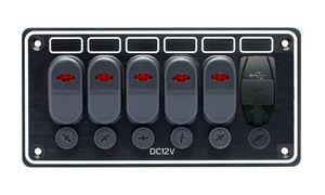 tableau électrique pour bateau / étanche / avec port USB