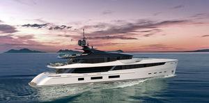 mega-yacht de croisière / raised pilothouse / en aluminium / 5 cabines