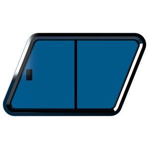 fenêtre pour yacht / ouvrante / trapézoïdale / en verre
