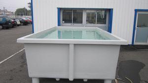 bac d'élevage pour l'algoculture / pour l'aquaculture / pour l'élevage de crustacés / pour la conchyliculture